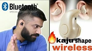 REVIEW S530 Smallest Truly Wireless Mini bluetooth In Kaju shape For Driving Gym Or other hindi