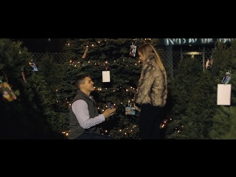 THE BEST WEDDING PROPOSAL EVER!! Christmas Tree Lot Surprise Engagement! Scott  Kendall