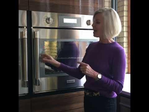 Jackie Glass Thermador Masterpiece built in wall oven swing door