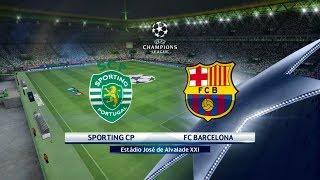 Sporting cp vs fc barcelona ᴴᴰ 27.09.2017 - uefa champions league 2017/18 pes 2017