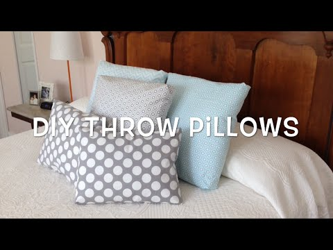 no sew throw pillows dorm room diy youtube