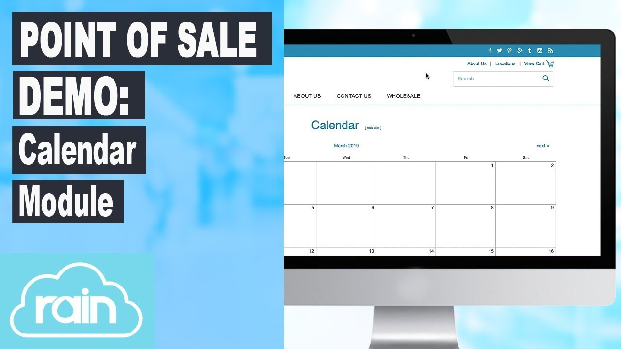 Retail POS (point of sale) Demo: Calendar Module