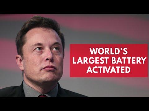 Elon Musk wins bet as Tesla mega-battery is built in just 60 days