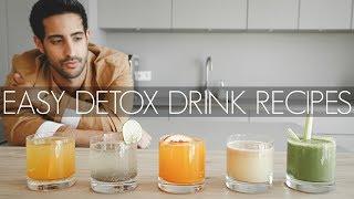 5 DETOX DRINK REZEPTE zum ABNEHMEN | flacher Bauch | schöne Haut | Sami Slimani