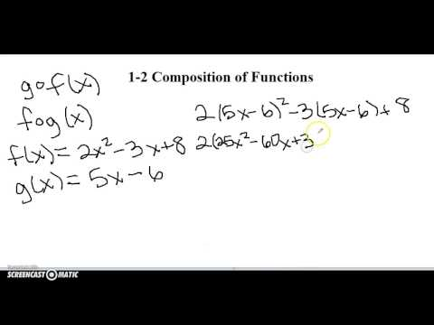 1-2 Composition of Functions