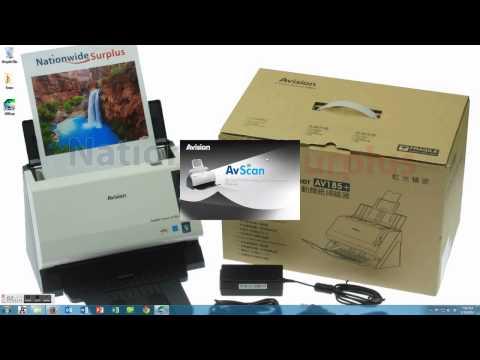 Avision AV185+ Desktop Scanner - How To Install Drivers AVScan 5.0 And Button Manager