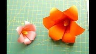 Как Сделать Цветы Лилии из Бумаги Своими Руками. Оригами Цветок из 6 Лепестков. Origami Lily(Показываю и рассказываю, как сделать из бумаги лилию из 6 лепестков своими руками. Цветы оригами лилии склад..., 2014-04-25T18:31:49.000Z)