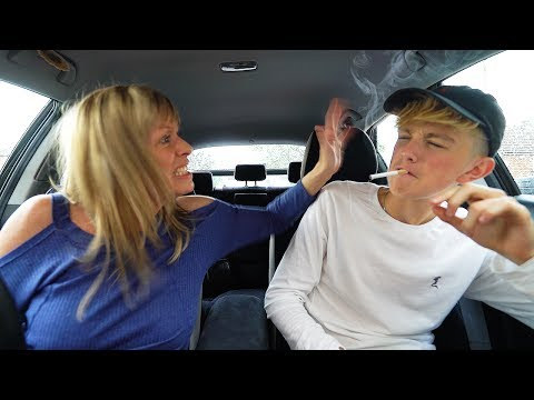 Mom catches 15 year old kid SMOKING cigarettes!!!! *FREAKOUT* (Prank)