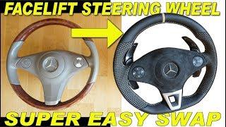 Gambar cover Mercedes Facelift steering wheel retrofit W212 W204 W166 W176 R230 Prt6