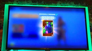 NEW DEADFIRE SKIN GAMEPLAY!!! NEW FORTNITEMARES UPDATE AND NEW GUNS!?!