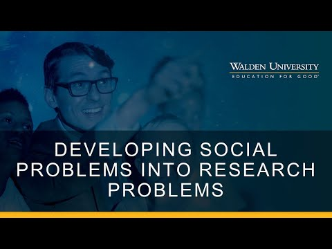 Developing Social Problems into Research Problems for CRQ
