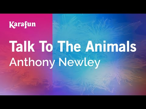 Karaoke Talk To The Animals - Anthony Newley *