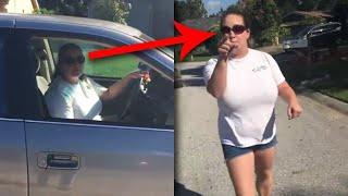 Diese Frau denkt sie wäre allein, aber eine GEHEIME Kamera filmte alles
