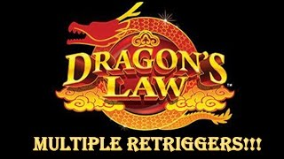 Dragon's Law - Konami - Multiple Retriggers - Big Win!!