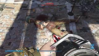 Fallout 4 Waffentest (Harpoon Minigun)