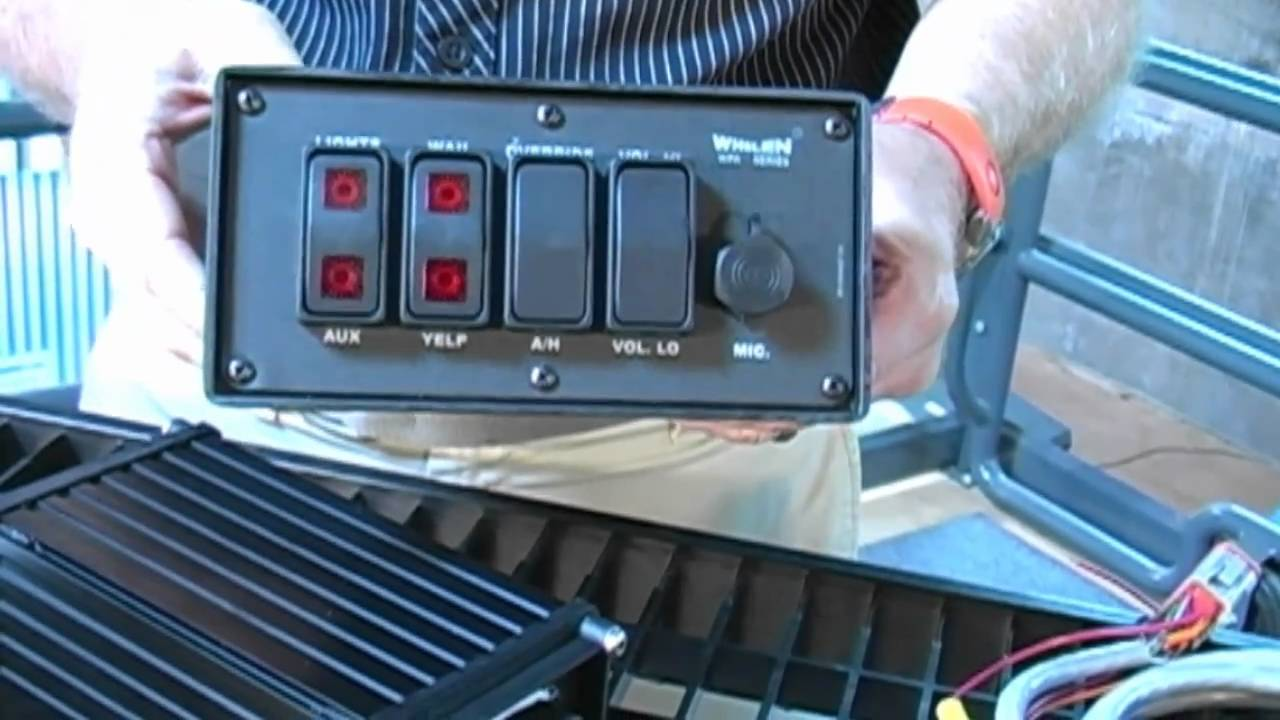 Whelen Water Resistant Marine Control Head for WPA112 - YouTube