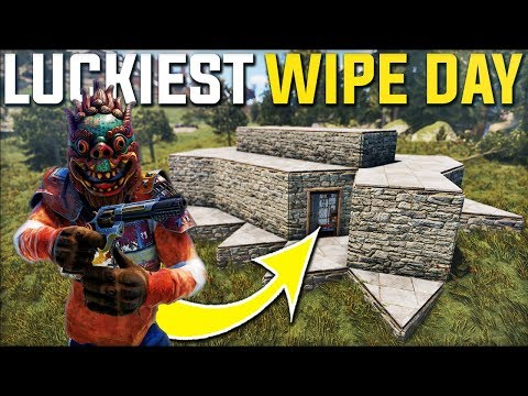 LUCKY START ON WIPE DAY A RICH BASE OWNER GAVE AWAY HIS BASE! - Rust Survival Gameplay | S21-E1 thumbnail