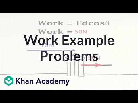 Work example problems | Work and energy | Physics | Khan Aca