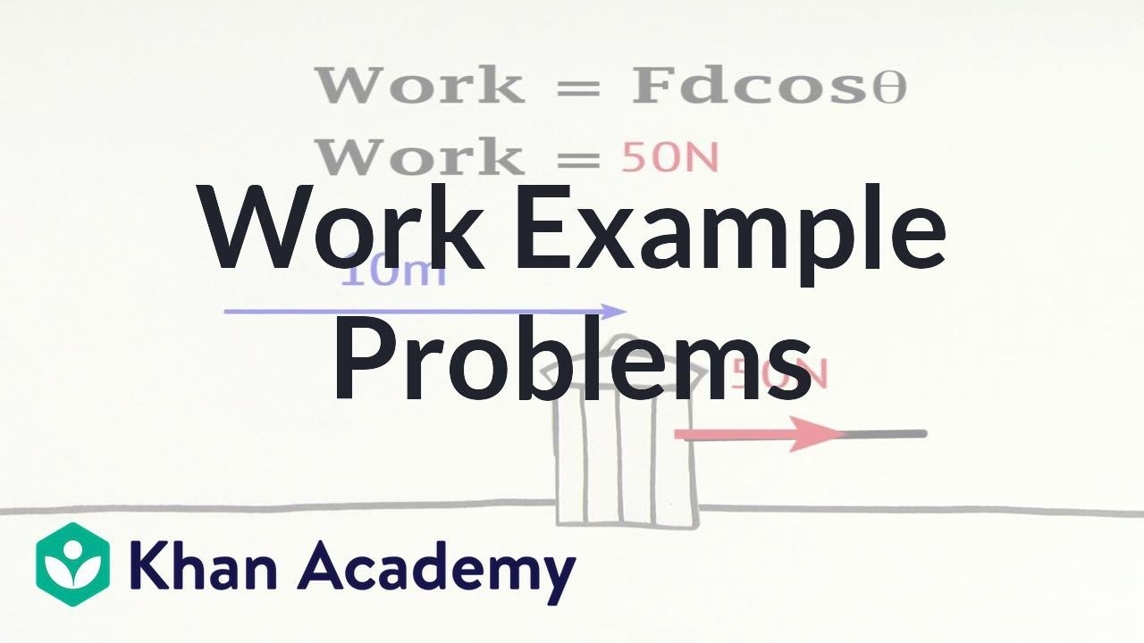 Work example problems (video)   Khan Academy [ 720 x 1280 Pixel ]