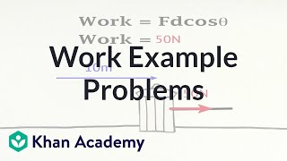 Work example problems | Work and energy | Physics | Khan Academy