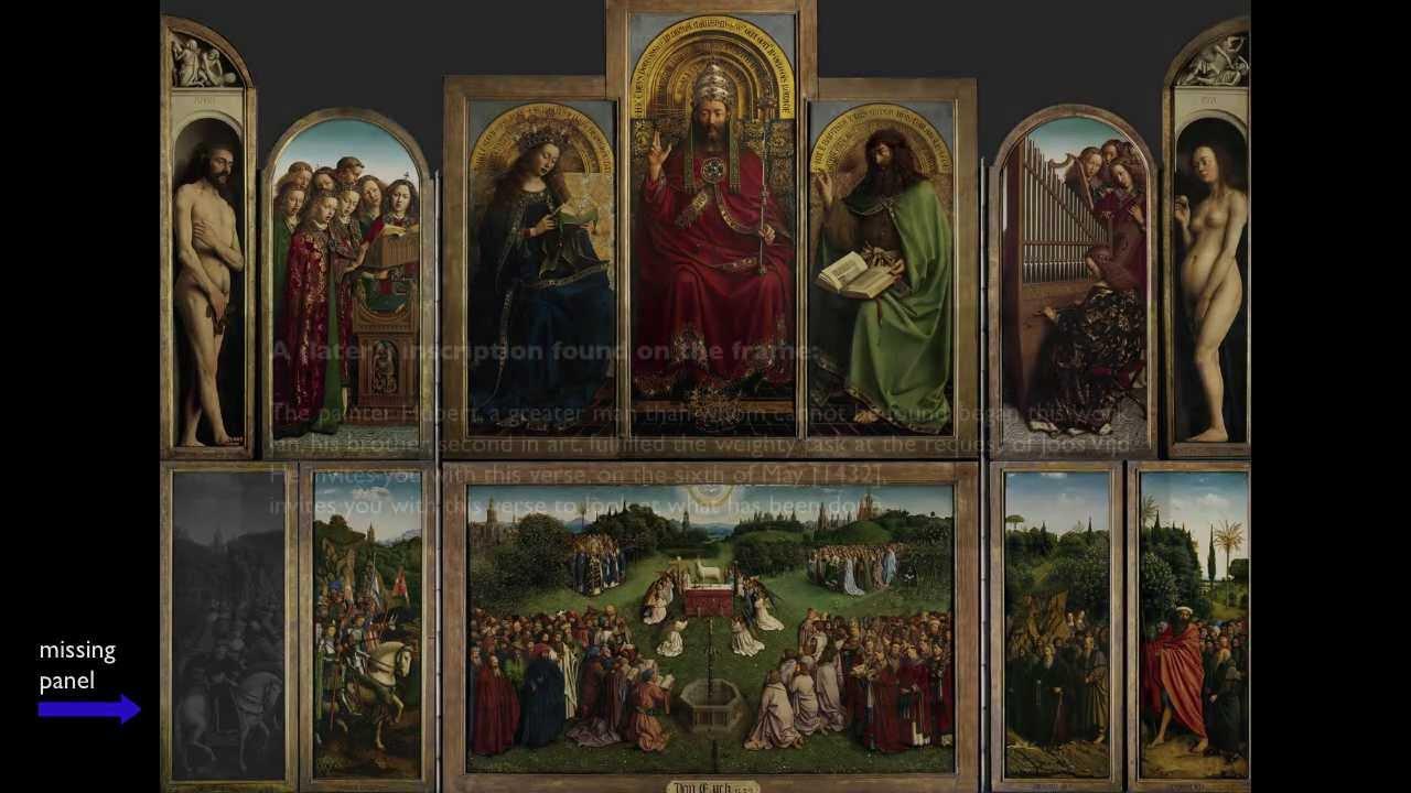 van eyck ghent altarpiece 1 of 2 youtube