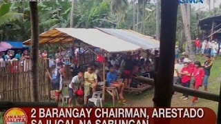 UB: 2 barangay chairman, arestado sa iligal na sabungan