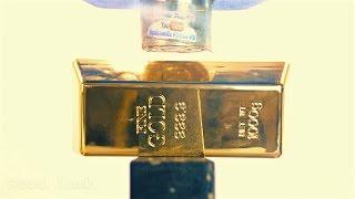 Gold Bar vs Hydraulic Press - $40,000 Gold Crushing