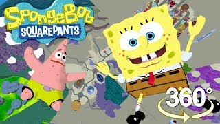 Spongebob Squarepants! - 360° SKYDIVING over Bikini Bottom! - (The First 3D VR Game Experience!)
