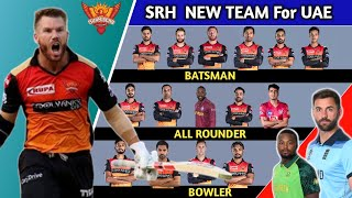 IPL | SRH final squad for Dream11 IPL | Sunrisers Hyderabad new team 2020