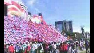 Malaysia 50th Independence Celebration - Human Waves