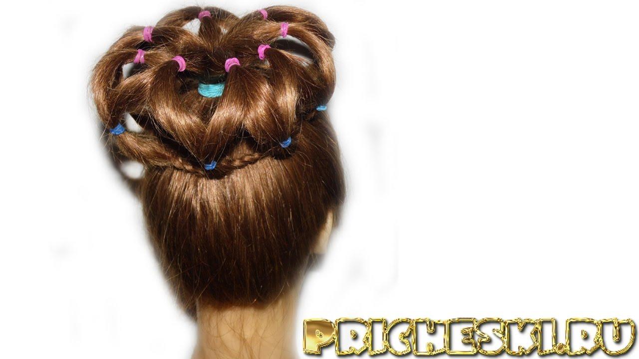 Причёски Из Резинок Для Девочек Фото