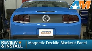 2010-2012 Mustang Magnetic Decklid Blackout Panel Review & Install