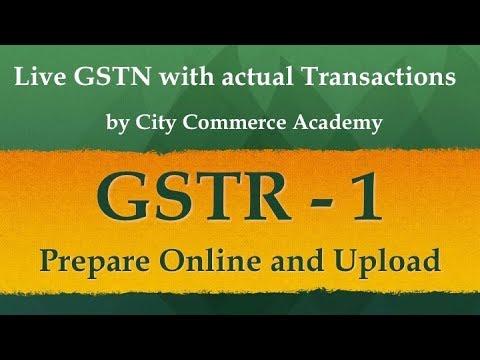 GSTR 1 , Prepare online GSTR 1 GST monthly return