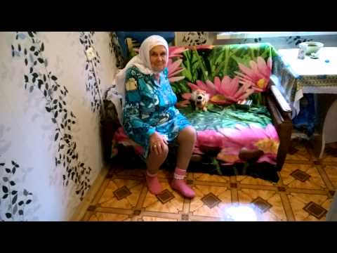 Татарская бабушка и мягкая игрушка