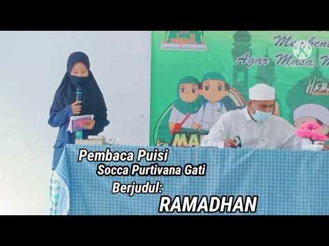 "Syiar Ramadhan 2021: Membaca Puisi ""Ramadhan"" dari Socca Purtivana Gati karya Ely K."