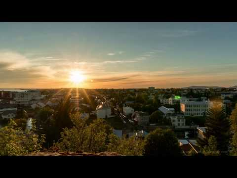 Sunset at Midnight in Iceland - 4K Time-lapse!