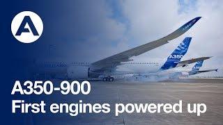 Video First A350 XWB's engines powered up download MP3, 3GP, MP4, WEBM, AVI, FLV Oktober 2018