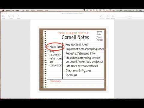Cornell Notes For Middle School  Youtube