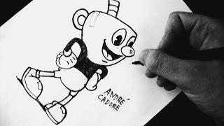 Como Desenhar o Mugman [Cuphead game] - (How to Draw Mugman) - OLD CARTOON #2