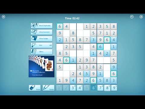 microsoft sudoku 1 youtube