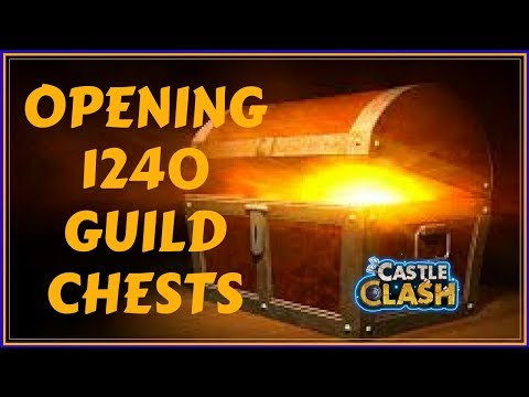 OPENING 1240 GUILD CHESTS - CASTLE CLASH