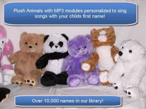 Singing MP3 Plush Animals - Songs personalized with your childs first name