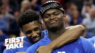 Zion Williamson's return makes Duke a heavy favorite to win NCAA tournament - Jay Bilas | First Take