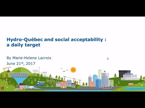 "GSEP webinar: ""Hydro-Québec and social acceptability: a daily target"""