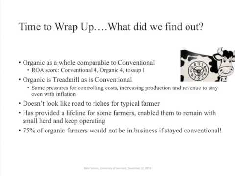Economics of Organic Dairy Farming Webinar