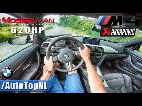 620HP BMW M4 AKRAPOVIC Exhaust STRAIGHT DECAT Sound | POV Test Drive by AutoTopNL