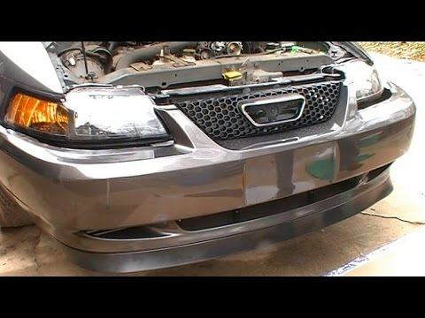 1999 Mustang Bumper Cover >> How to Install Replace a Front Bumper Cover and Header Panel on a 1999 - 2004 Ford Mustang - YouTube