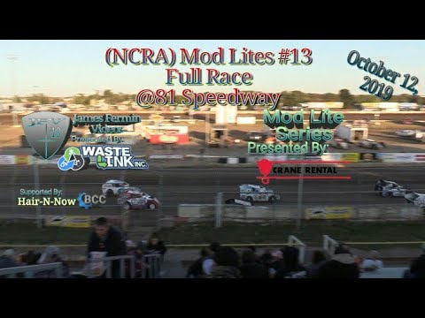 (NCRA) Mod Lites #13, Full Race, 81 Speedway, 10/12/19
