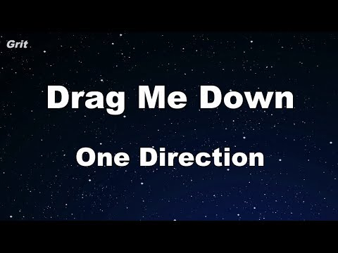 Drag Me Down - One Direction Karaoke 【With Guide Melody】 Instrumental
