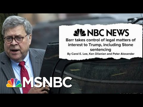 Trump's Hands Now Firmly Gripping The Steering Wheel At The Department Of Justice | Deadline | MSNBC